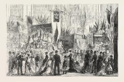 Grand Bazaar at Exeter Ball in Aid of the National Temperance Hospital, 1876, Uk--Giclee Print