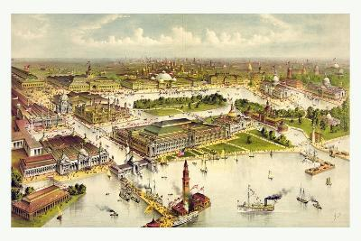 Grand Birds Eye View of the Grounds and Buildings of the Great Columbian Exposition at Chicago-Currier & Ives-Giclee Print