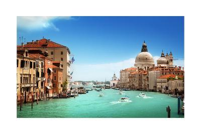 Grand Canal And Basilica Santa Maria Della Salute, Venice, Italy-Iakov Kalinin-Art Print