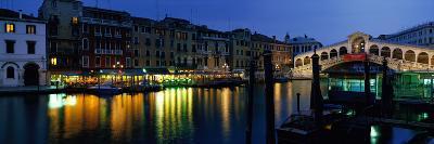Grand Canal and Rialto Bridge Venice Italy--Photographic Print