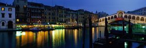 Grand Canal and Rialto Bridge Venice Italy