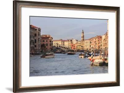 Grand Canal and Rialto Bridge. Venice. Italy-Tom Norring-Framed Photographic Print