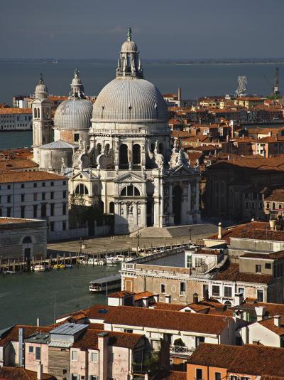 Grand Canal and Santa Maria Della Salute Viewed from the Campanile, Piazza San Marco, Venice, Italy-Adam Jones-Photographic Print