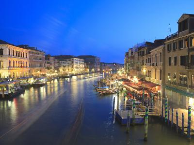 Grand Canal at Dusk, Venice, UNESCO World Heritage Site, Veneto, Italy, Europe-Amanda Hall-Photographic Print