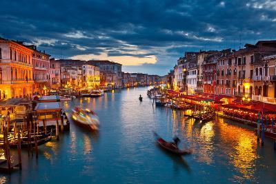 Grand Canal at Night, Venice-sborisov-Photographic Print