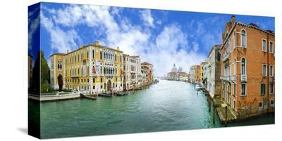 Grand Canal & Basilica Venice--Stretched Canvas Print