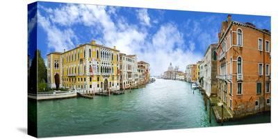 Grand Canal & Basilica Venice--Stretched Canvas Print