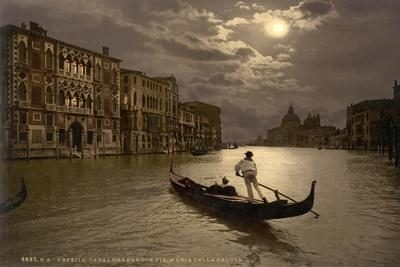 Grand Canal by Moonlight, Venice, Italy, C.1890-C.1900--Giclee Print