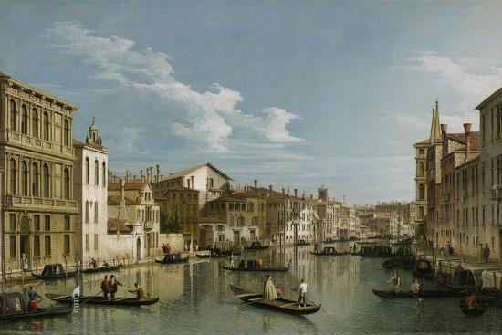Grand Canal from Palazzo Flangini to Palazzo Bembo, C.1740-Canaletto-Premium Giclee Print