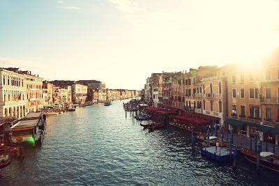Grand Canal, Venice, Italy, Called Canal Grande in Italian, as Seen from Rialto Bridge. Beautiful V-Maridav-Photographic Print