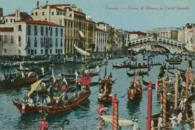 Grand Canal, Venice. Postcard Sent in 1913-Italian Photographer-Giclee Print