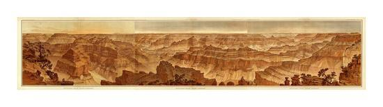 Grand Canyon: Composite Panorama from Point Sublime, c.1882-William Henry Holmes-Art Print