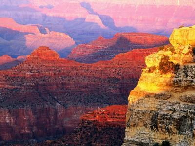 Grand Canyon from South Rim at Hopi Point, Grand Canyon National Park, Arizona-David Tomlinson-Photographic Print