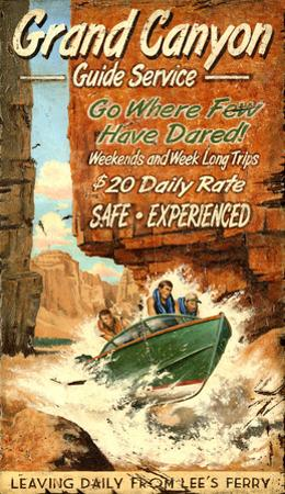 Grand Canyon Guide Vintage Wood Sign
