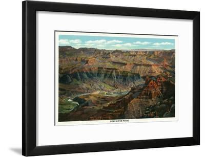 Grand Canyon Nat'l Park, Arizona - Panoramic View of the Park from Near Lipan Point, c.1932-Lantern Press-Framed Art Print