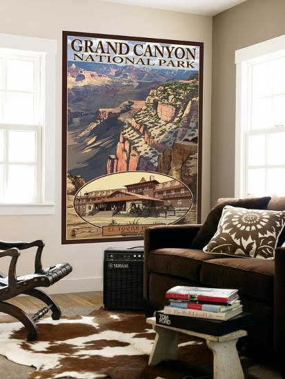 Grand Canyon National Park, Arizona, El Tovar Hotel-Lantern Press-Wall Mural