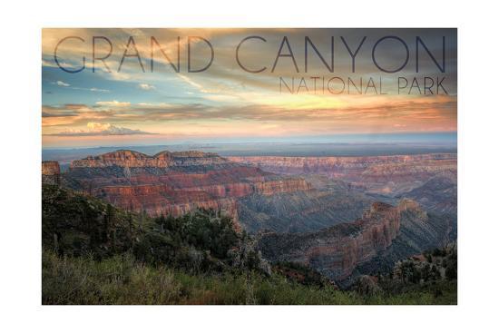 Grand Canyon National Park, Arizona - Hazy Canyon View-Lantern Press-Art Print