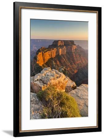 Grand Canyon National Park, Arizona: The North Rim As Viewed From Cape Royal Overlook At Sunset-Ian Shive-Framed Photographic Print