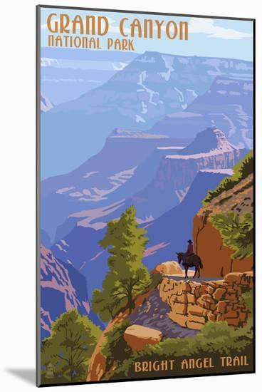 Grand Canyon National Park - Bright Angel Trail-Lantern Press-Mounted Art Print