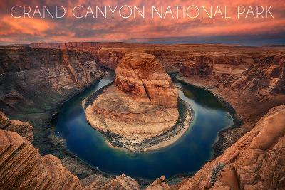 Grand Canyon National Park - Horseshoe Bend-Lantern Press-Art Print