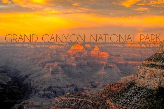 Grand Canyon National Park - Overview-Lantern Press-Wall Mural
