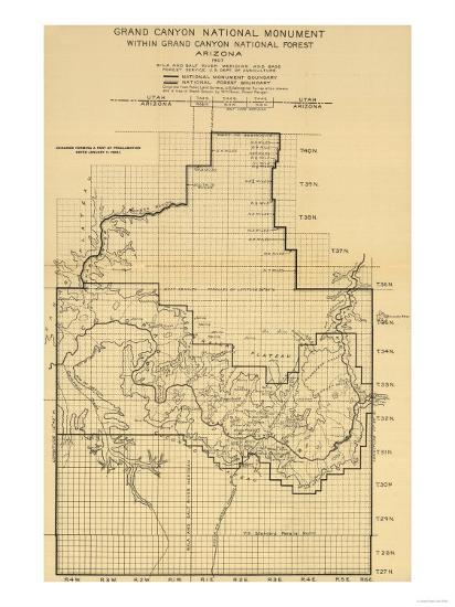 Grand Canyon National Park - Panoramic Map-Lantern Press-Art Print
