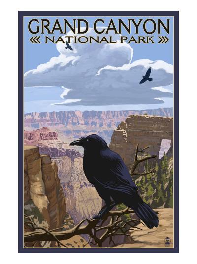 Grand Canyon National Park - Ravens and Angels Window-Lantern Press-Art Print