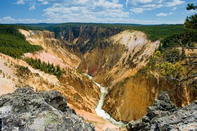 Grand Canyon of Yellowstone-Howard Ruby-Photographic Print