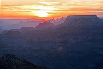 Grand Canyon Sunset-Manfred Kraus-Photographic Print