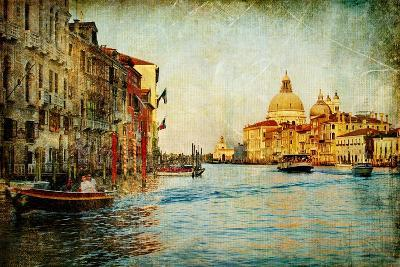 Grand Channel -Venice - Artwork In Painting Style-Maugli-l-Art Print