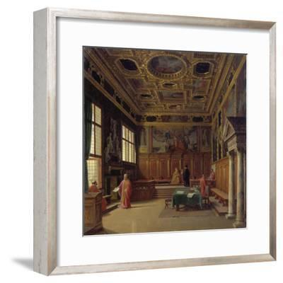 Grand Council Hall of the Doge's Palace in Venice-Heinrich Hansen-Framed Giclee Print