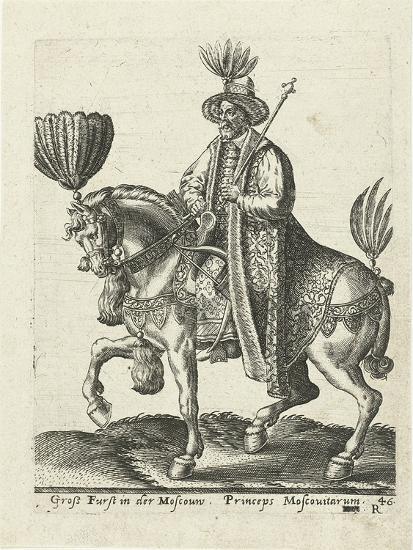 Grand Duke of Muscovy, 1577-Abraham de Bruyn-Giclee Print