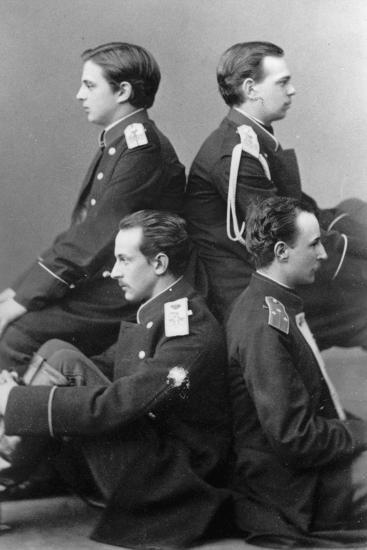 Grand Dukes Alexander Alexandrovich and Vladimir Alexandrovich of Russia, C1870-C1875-Sergei Levitsky-Giclee Print