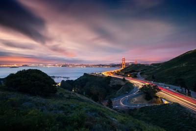 Grand East View, Beautiful Golden Gate Bridge, San Francisco Cityscape-Vincent James-Photographic Print