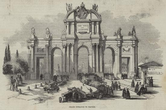 Grand Entrance to Madrid--Giclee Print