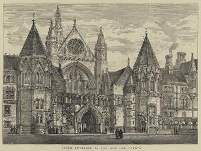 Grand Entrance to the New Law Courts-Henry William Brewer-Giclee Print