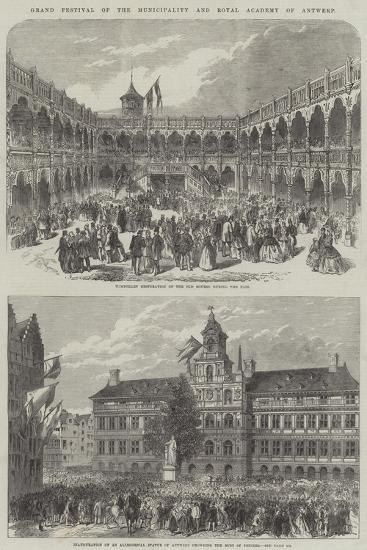 Grand Festival of the Municipality and Royal Academy of Antwerp--Giclee Print