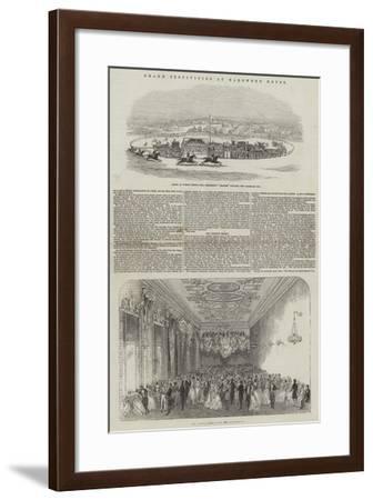 Grand Festivities at Harewood House--Framed Giclee Print