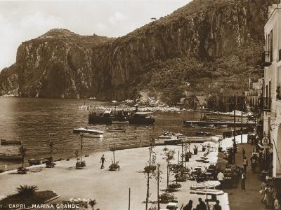 Grand Harbour/Marina - Island of Capri--Photographic Print