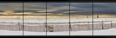 Grand Haven Lighthouse Panorama, Grand Haven, Michigan '14-Monte Nagler-Photographic Print
