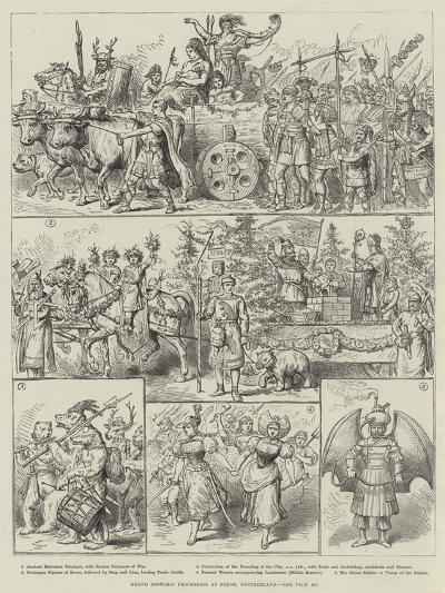 Grand Historic Procession at Berne, Switzerland--Giclee Print