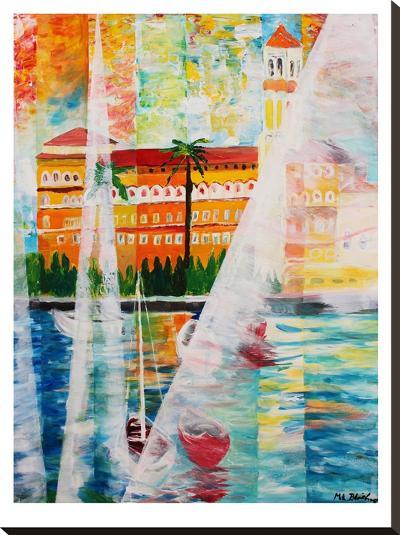 Grand Hotel In Gardone Riviera In Sunlight-M Bleichner-Stretched Canvas Print