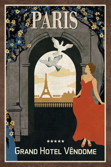 Grand Hotel Paris-Collection Caprice-Art Print