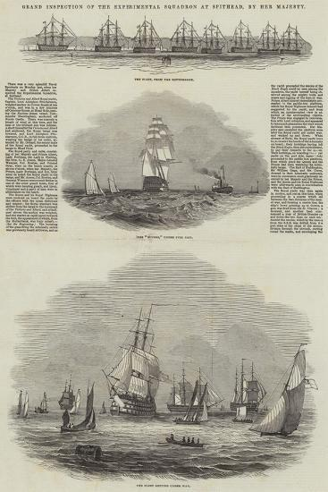 Grand Inspection of the Experimental Squadron at Spithead, by Her Majesty--Giclee Print