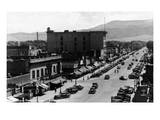 Grand Junction, Colorado - Street Scene-Lantern Press-Art Print