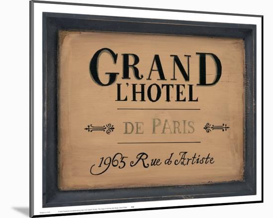Grand l'Hotel--Mounted Print