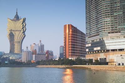Grand Lisboa and Wynn Hotel and Casino, Macau, China, Asia-Ian Trower-Photographic Print