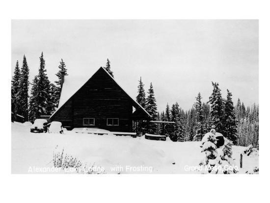 Grand Mesa, Colorado - Alexander Lake Lodge-Lantern Press-Art Print