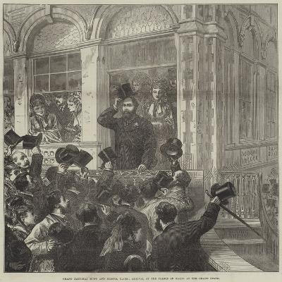 Grand National Hunt and Bristol Races, Arrival of the Prince of Wales at the Grand Stand--Giclee Print