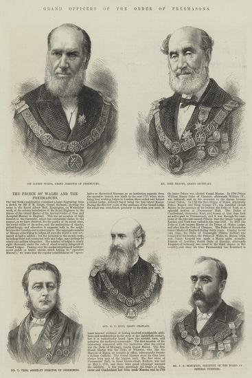 Grand Officers of the Order of Freemasons--Giclee Print